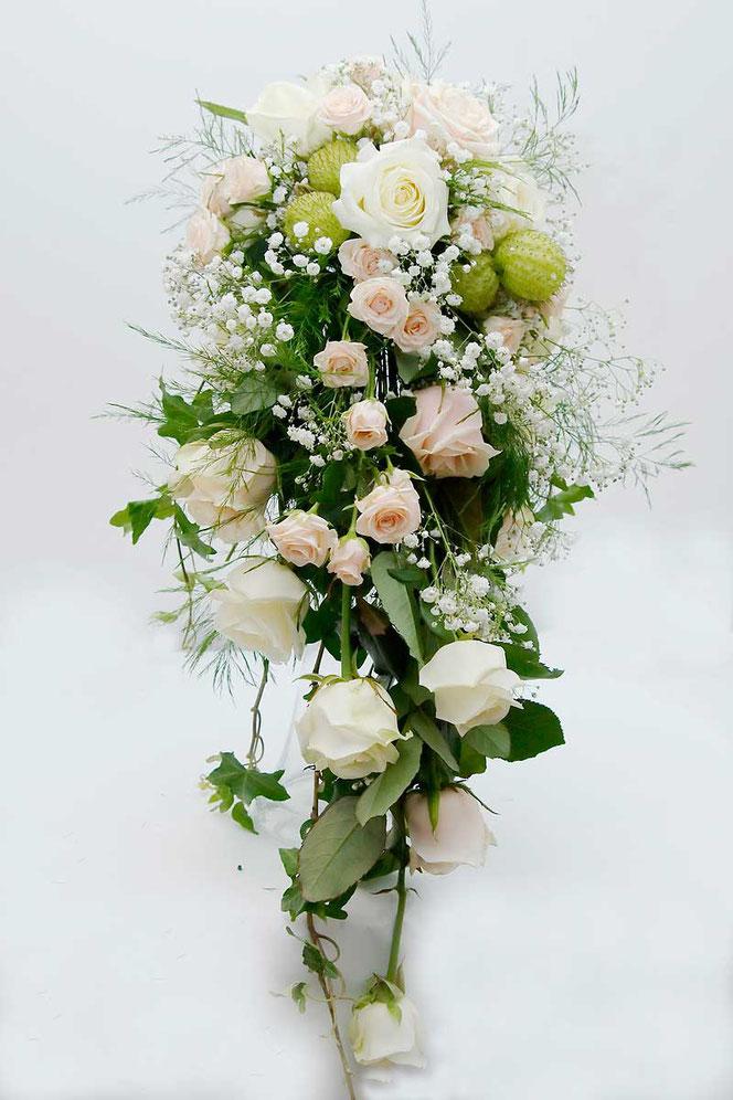 Brautstrauß rosa weiss Wasserfall