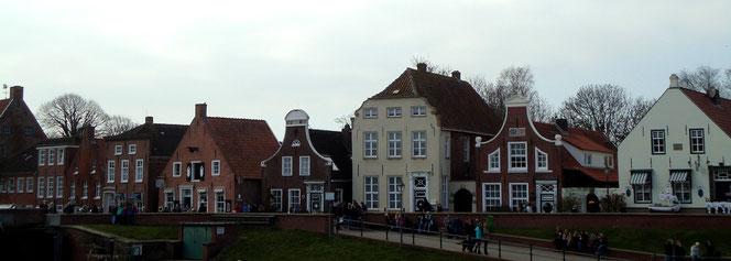 Giebelhäuser im Fischerdorf Greetsiel