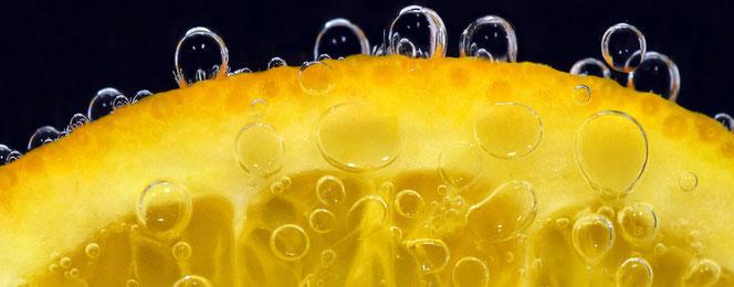 Orange Wasser Frisch