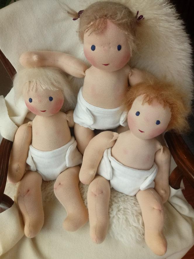 Stoffpuppe, Babypuppe, Bio, handgemacht, Handarbeit, handgefertigt, ökologische Kinderpuppe, Waldorfart, individuelle Puppe, bio-fair, fairliebt, Wunschpuppe, Puppenhandwerk, Naturmaterial