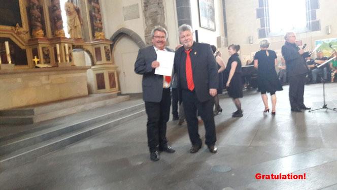 Gemischter Chor Bracht erreicht den Titel Leistungschor im Mitteldeutschen Sängerbund