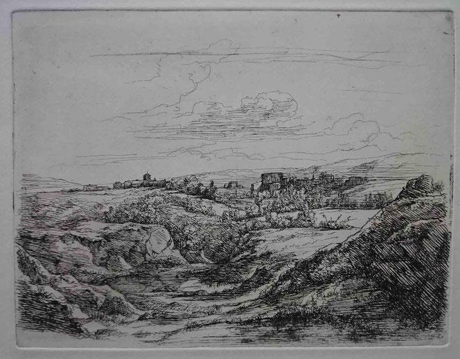 Charmier, Paysage au château, 1842.