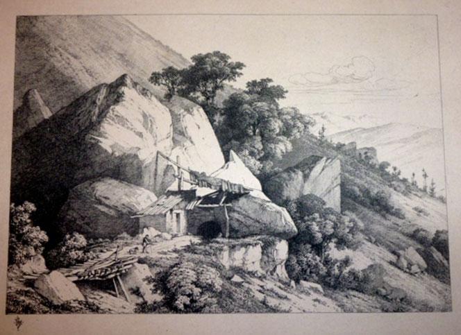 Leymarie, Paysage du Bugey, eau-forte, 220x460