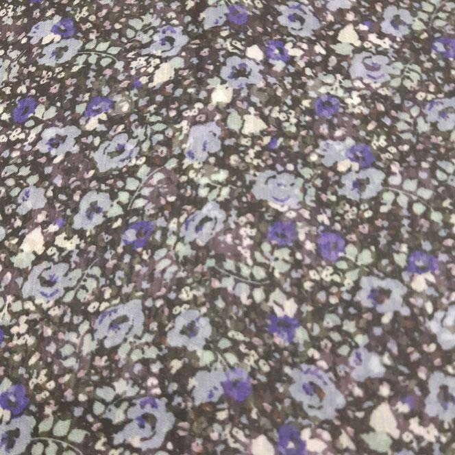 mousseline à fleurs