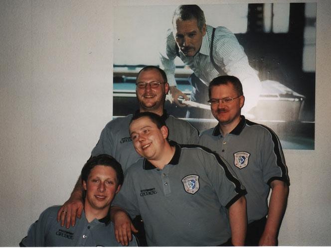 hinten: Holzner Harald und Koppauer Andreas      vorne: Deubelli Sebastian und Blechl Manuel