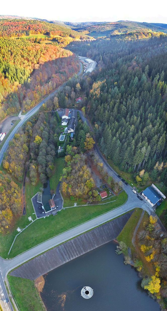 Panoramabild Marbachstausee
