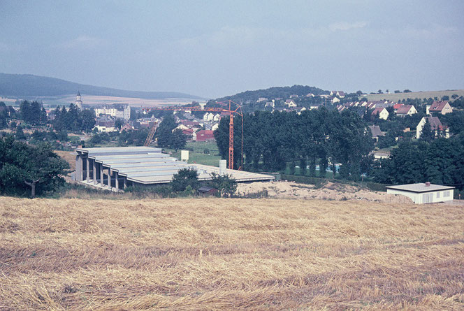 Bau des ehemaligen Hallenbades 1973