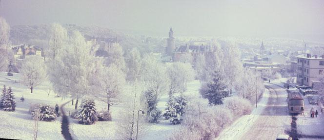 Blick über den Park Stolzwiese in den 60er Jahren.