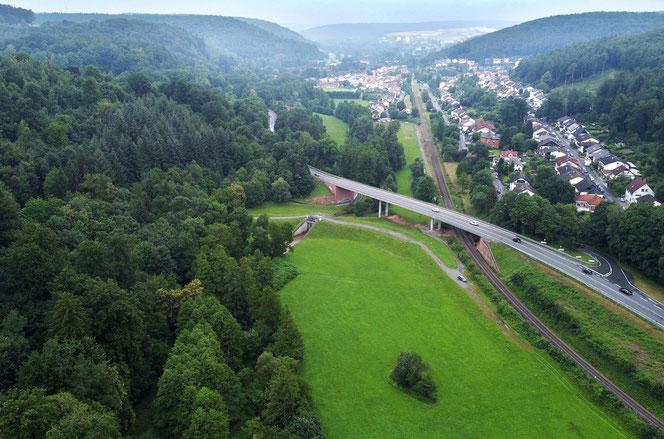 Hochwasserschutz, Wasserverband Mümling, Staudamm