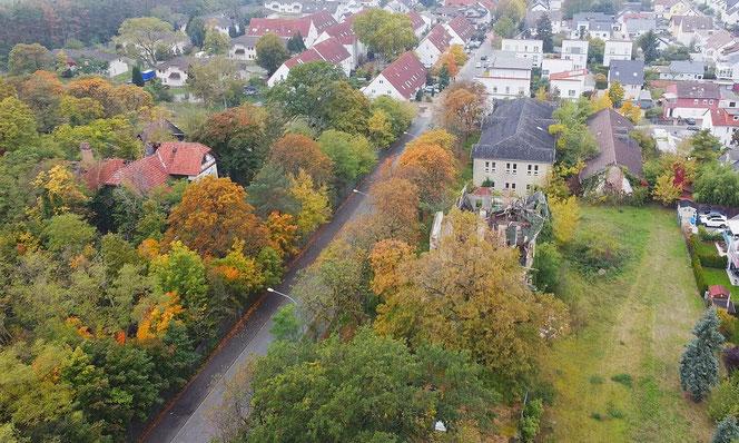Verfallene Gebäude, ehemals amerikanische Kasernen, im Osten von Griesheim