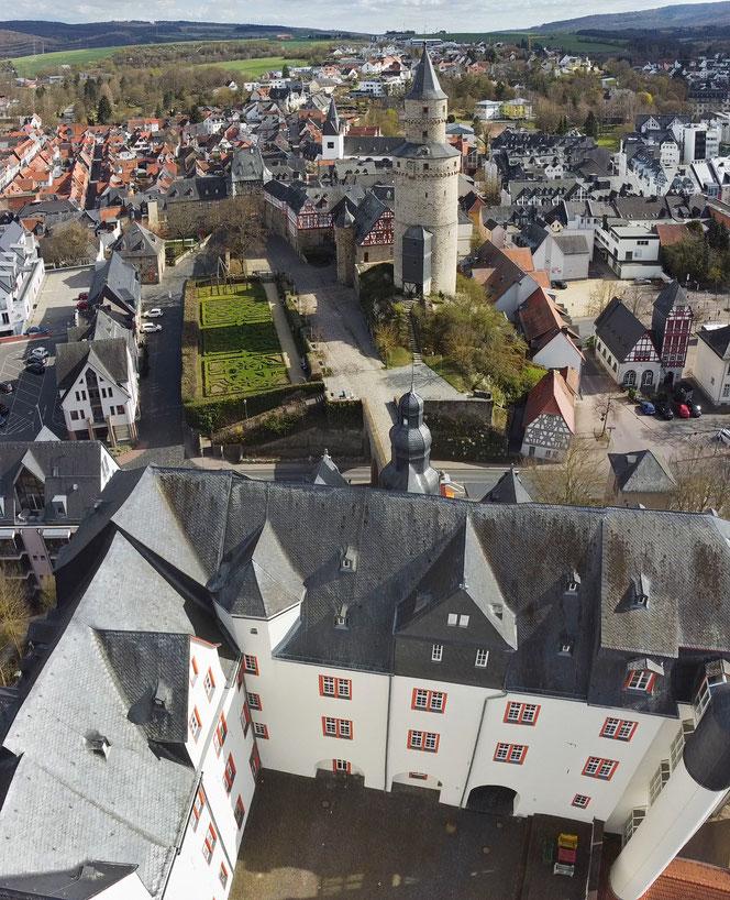 Drohnenaufnahme Idstein Schloss Hexenturm