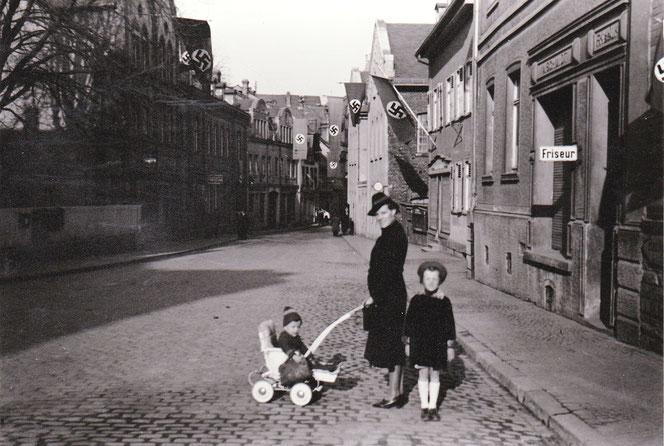 Blick in die Rodergasse 1940