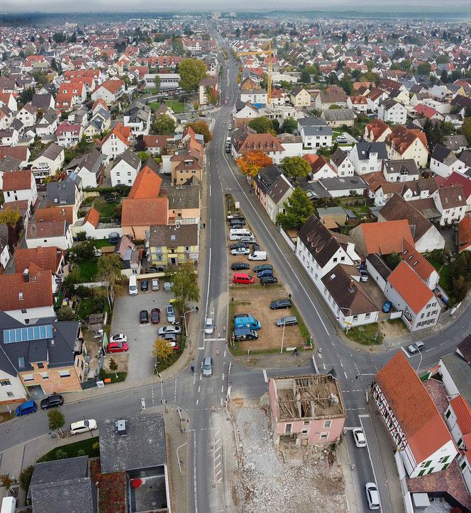 Blick auf Griesheim von Westen (Oktober 2020)