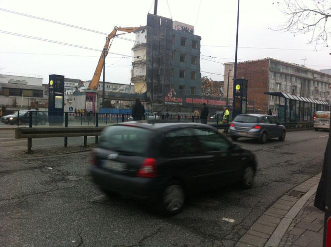 2012 Abriss Gebäude Neckarstraße 4
