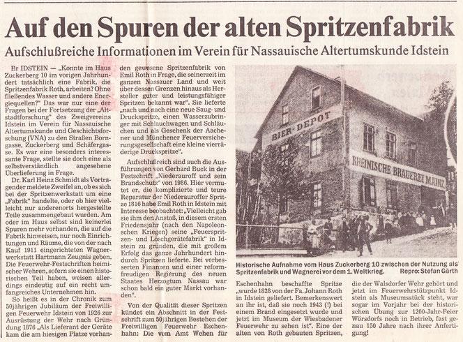 Auf den Spuren der alten Spritzenfabrik
