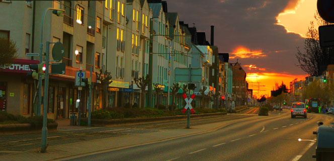 Sonnenaufgang in Griesheim bei Darmstadt