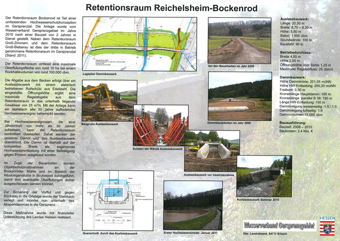 Retentionsraum Reichelsheim-Bockenrod an der Gersprenz im Odenwald
