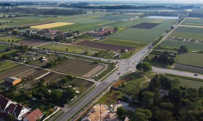Feldlandschaft westl. von Griesheim (Juni 2021)
