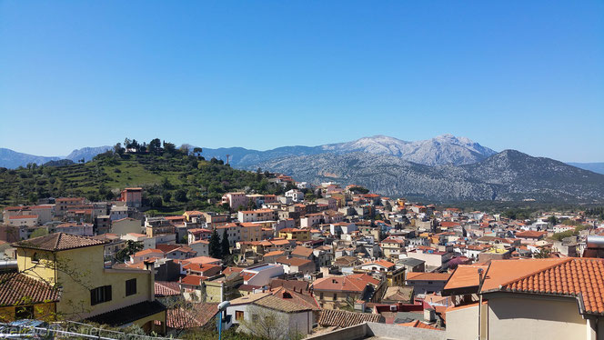 Blick über Dorgali