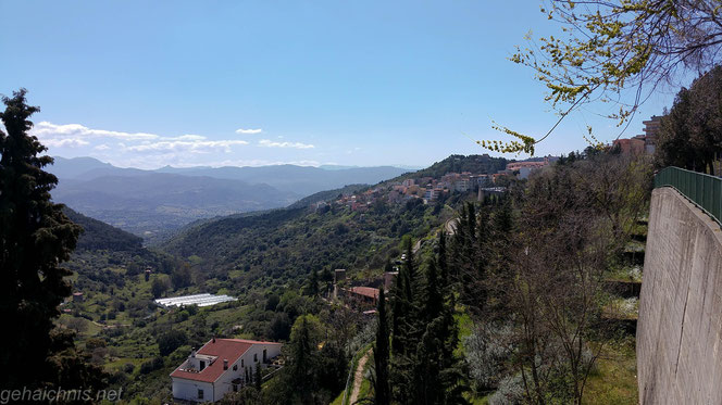 Nuoro am Hang des Monte Ortobene