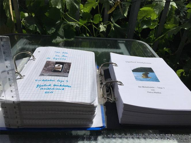 Petra Mettke/™Gigabuch Winkelsstein 03/Vergleich Originalmanuskript und Druckskript