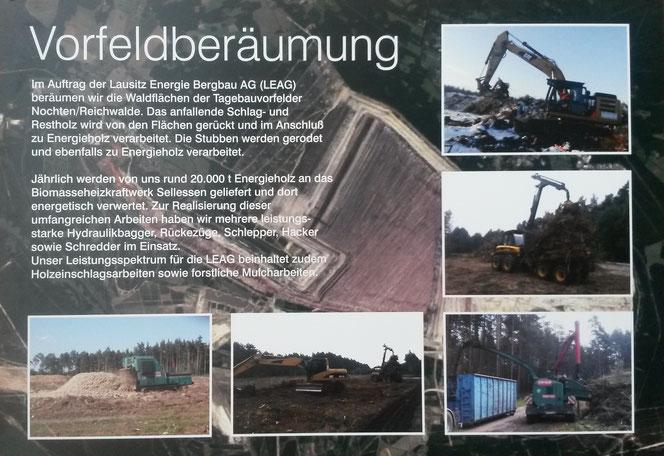 Vorbereitung von Flächen im Braunkohlebergbau