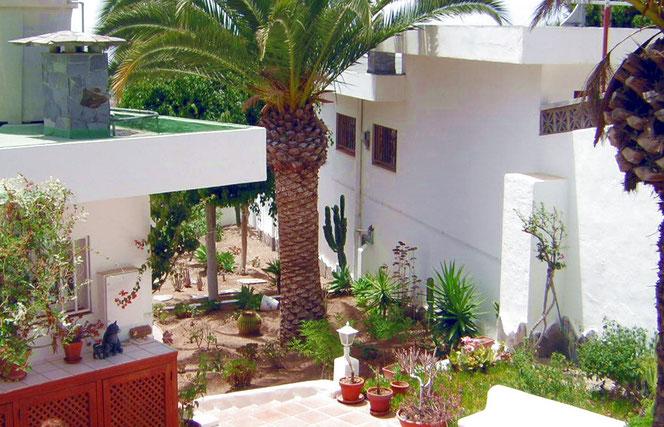 Eingang zum Ferienhaus Siggy mit Garten in ruhiger Lage, ländlich gelegen