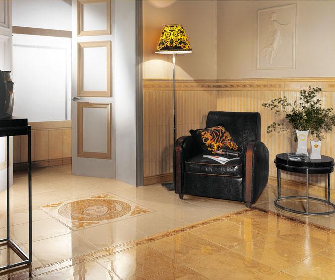 Versace serie palace casaeco pavimenti e rivestimenti in ceramica rubinetterie per bagno - Stock piastrelle versace ...