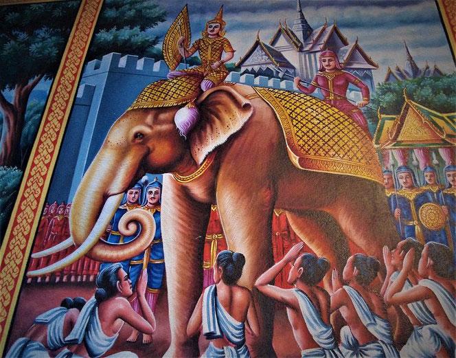 タイの寺院の絵画
