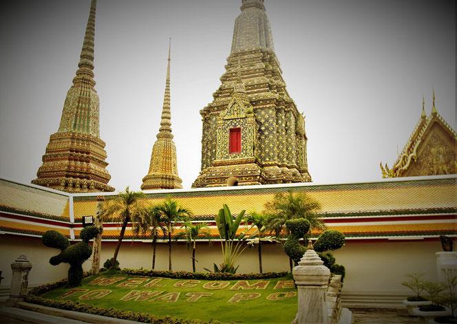 ワット・ポー(涅槃寺、wat po)の写真。タイ出張旅行時に撮影。