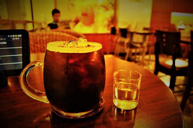 バンコク・MBKのブラックキャニオンコーヒーのアイスコーヒー