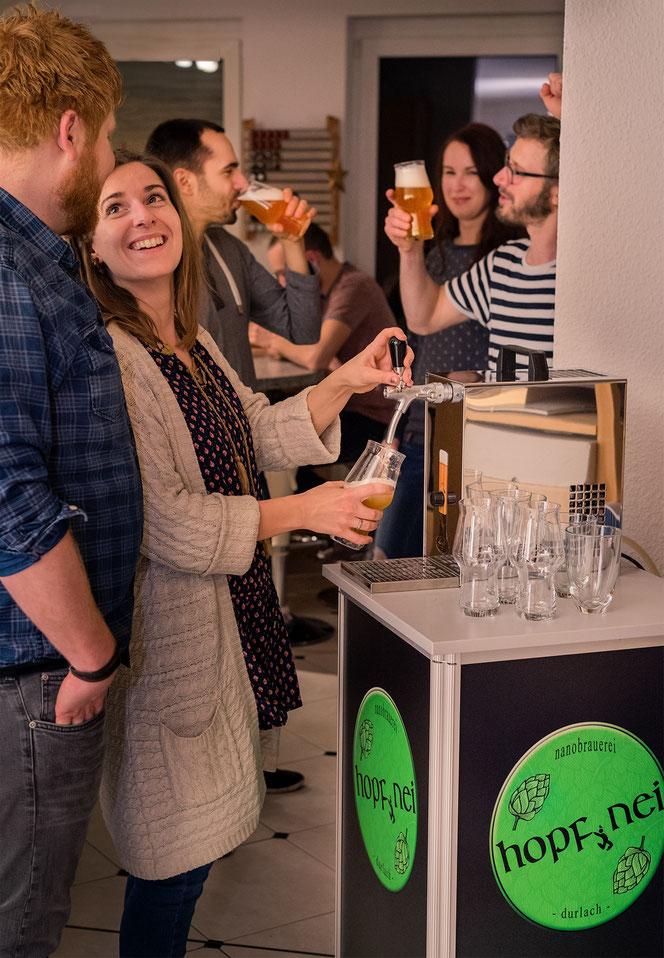 Mietbar zum Craft Bier zapfen vom Fass für Partys