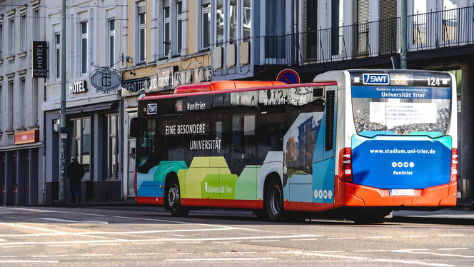 Xe Bus trường đại học Trier,  nguồn: đại học Trier