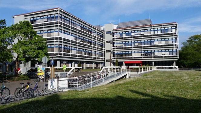 khuôn viên xanh mát viện kỹ thuật KIT
