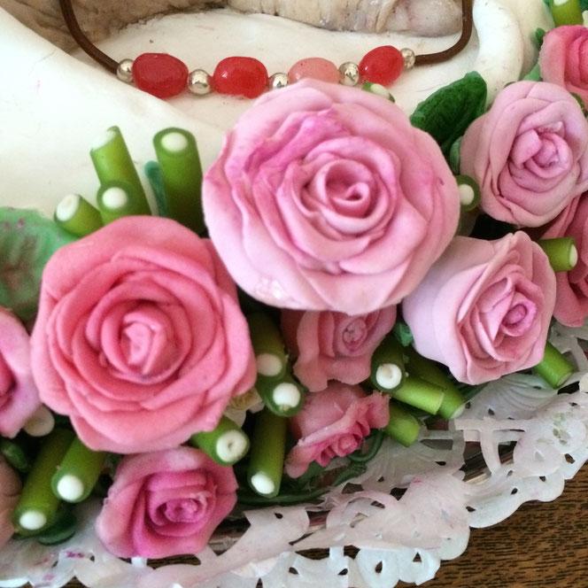Rosenkranz aus Zuckermasse