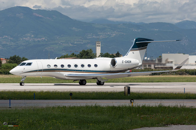 C-GNDN G650 6162 Skyservice Business Aviation Inc. @ Aeroporto di Verona - 15/06/2016 © Piti Spotter Club Verona