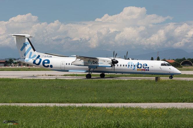 G-FLBA DHC-8-402 4253 Flybe - British European @ Aeroporto di Verona - 15/06/2016 © Piti Spotter Club Verona
