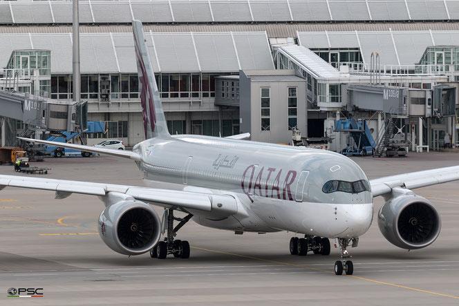 Il nuovo Airbus 350 di Qatar Airways. foto archivio PSC