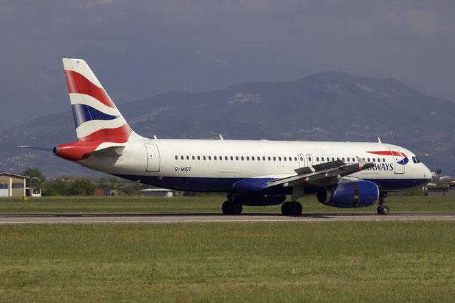 G-MIDT A320-232 1418 British Airways @ Aeroporto di Verona - 2016 © Piti Spotter Club Verona (30.04.2016)