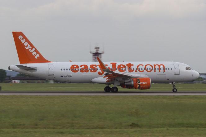 G-EZOB A320-214 6416 EasyJet Airline @ Aeroporto di Verona - 2016 © Piti Spotter Club Verona