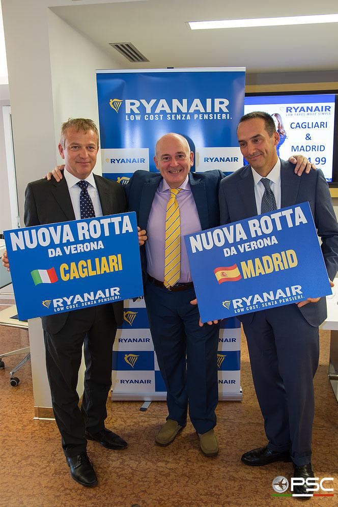 Paolo Arena, John F. Alborante e Camillo Bozzolo, Direttore Commerciale e Sviluppo Aviation di SAVE SpA.
