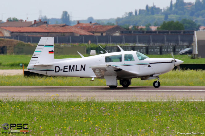 D-EMLN Private Mooney M20K-231 @ Aeroporto di Verona - 15/06/2016 © Piti Spotter Club Verona