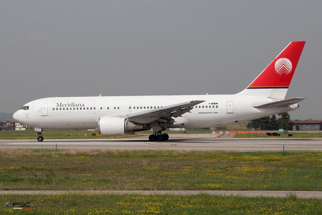 Boeing 767-200 con cui Meridiana opera il lungo raggio, foto archivio PSC