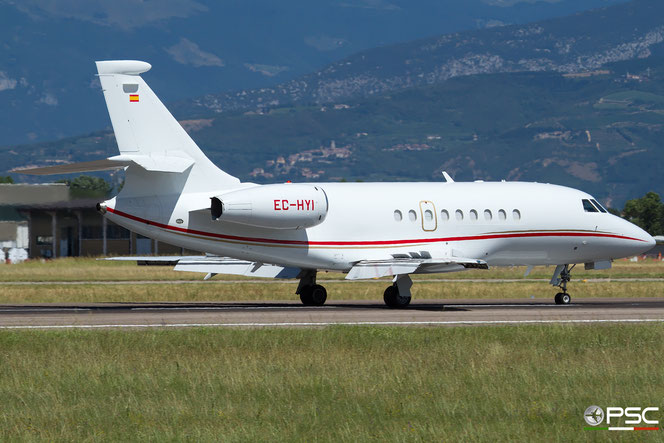 EC-HYI Falcon 2000 150 Gestair Executive Jet@ Aeroporto di Verona - 15/07/2016 © Piti Spotter Club Verona