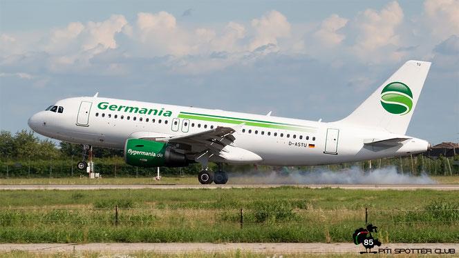 D-ASTU A319-112 3533 Germania Flug @ Aeroporto di Verona - 10/08/2016 © Piti Spotter Club Verona