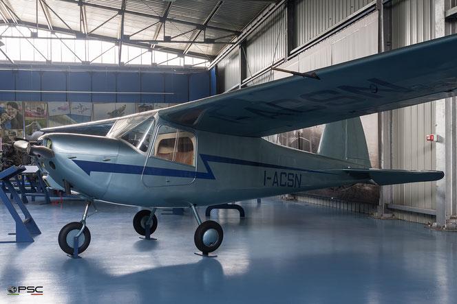 MB-308 I-ACSN esposto al museo Caproni di Trento (Archivio PSC)