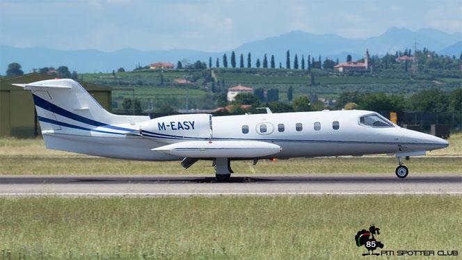 M-EASY Learjet 35A 35A-341 PM Luftfahrzeugvermietung GmbH @ Aeroporto di Verona - 15/07/2016 © Piti Spotter Club Verona