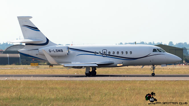 G-LSMB Falcon 2000LX 047 Aviation Beauport Ltd. @ Aeroporto di Verona - 22/07/2016 © Piti Spotter Club Verona