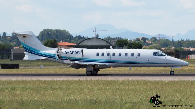 D-CSOS Learjet 45 45-161 Air Alliance Express GmbH @ Aeroporto di Verona - 15/07/2016 © Piti Spotter Club Verona
