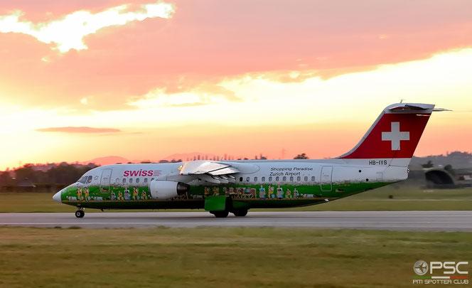 HB-IYS BAe146-RJ100 E3381 Swiss Global Air Lines @ Aeroporto di Verona - 2016 © Piti Spotter Club Verona